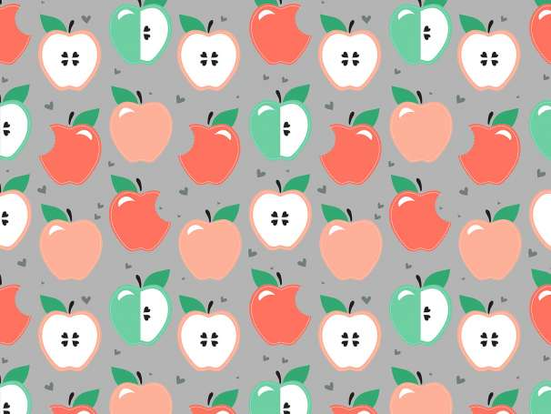 Jersey Stoff - Eigenproduktion - Apple Party