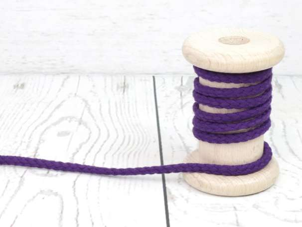 Kordel Baumwolle - 5 mm - violett