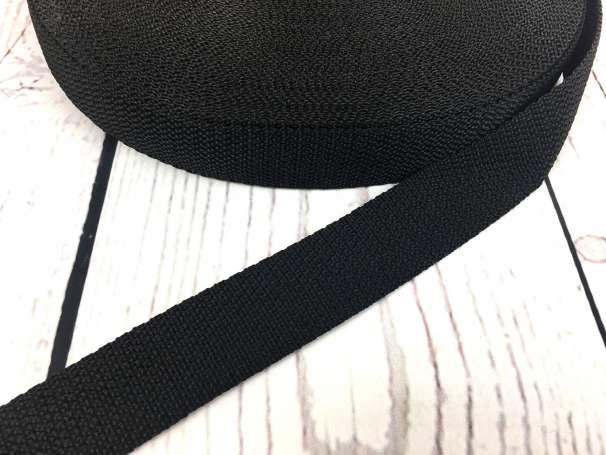 Gurtband - 25mm - schwarz