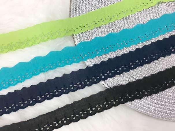 Lochstickerei Spitze - 30 mm - verschiedene Farben