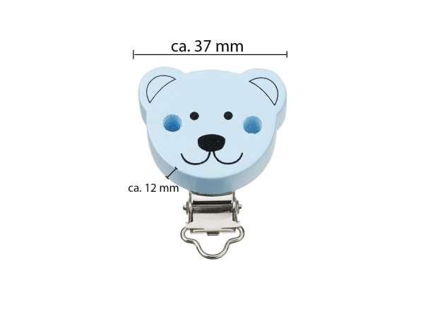Schnulli-Ketten Clip - Bär - Maße