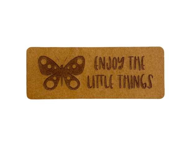 SnaPpap Label - Schmetterling, Enjoy the little things