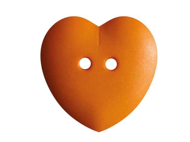 Knopf Herz 23mm - orange