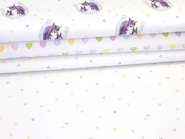 Jersey Stoff - Lovely Unicorns - Serie