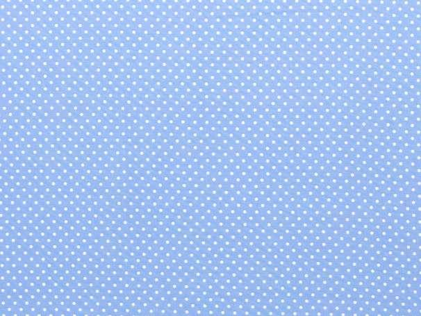 BAUMWOLLE Stoff - Pünktchen - himmelblau,weiß