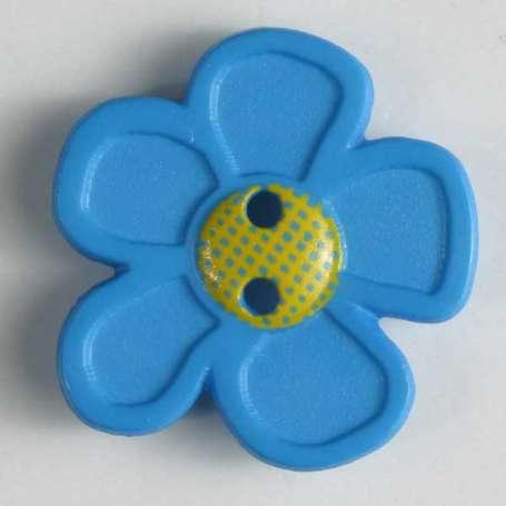 Knopf Blume 20mm - türkis