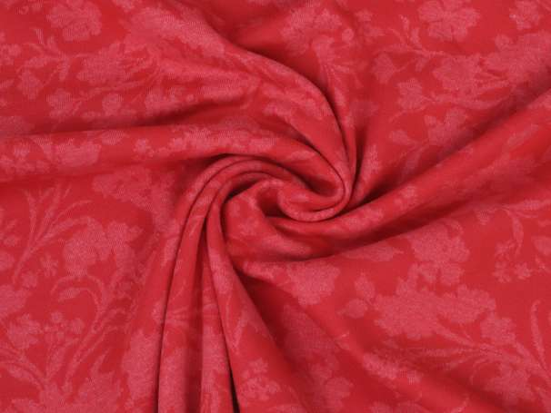 Jacquard Milliblus - In Bloom - Rot