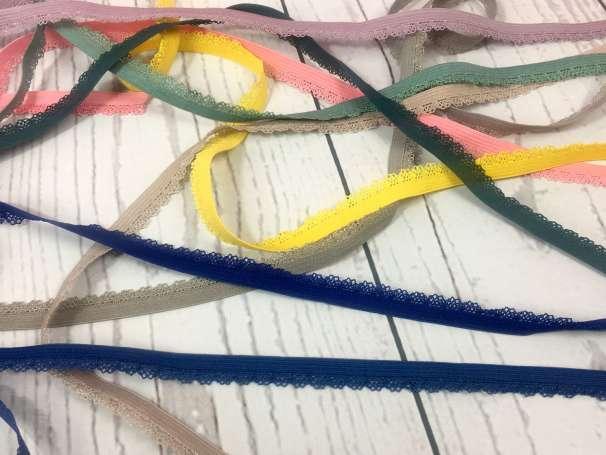 Elastische Spitze Bogenkante - verschiedene Farben