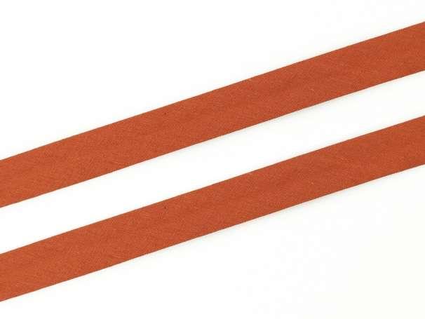 Schrägband Baumwolle - 20 mm - terracotta