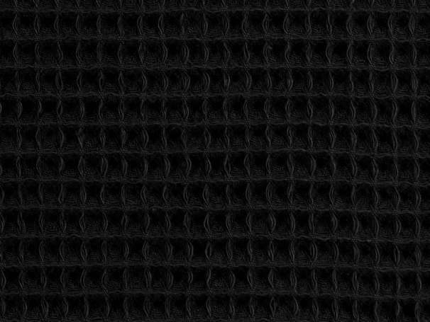 Waffelpiqué - schwarz