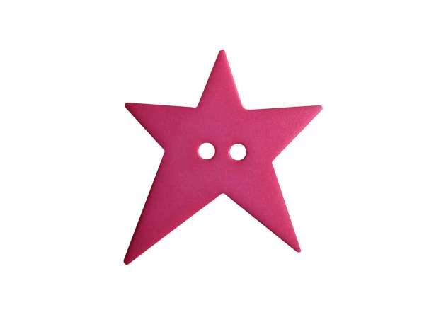 Knopf Stern 15mm - pink