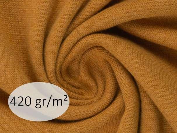 Bündchenstoff - ANTJE 420 gr. - ocker meliert