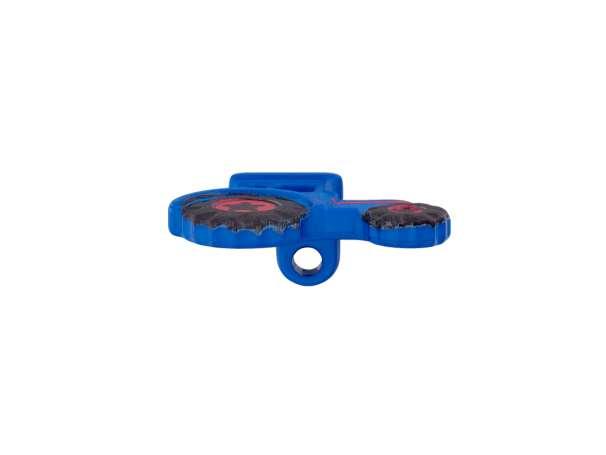 Knopf 23 mm - Traktor - blau