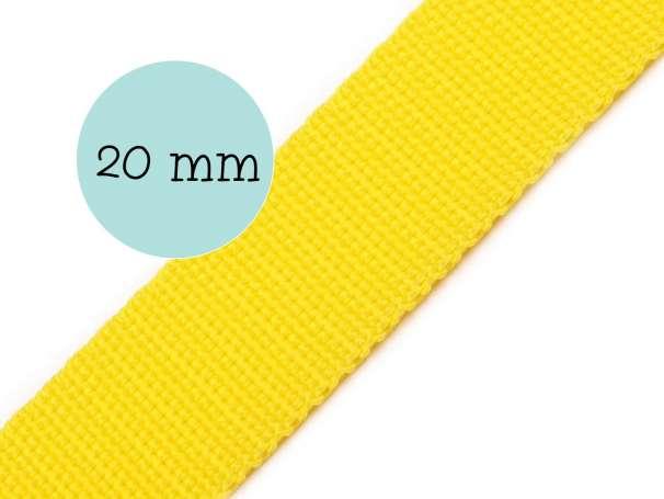 Gurtband - 20mm - gelb