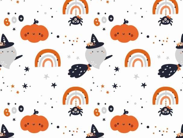 Jersey Stoff - Halloween - BOO