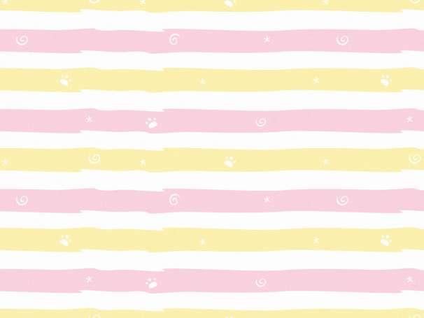 French Terry - Winterspaß Streifen, rosa-gelb