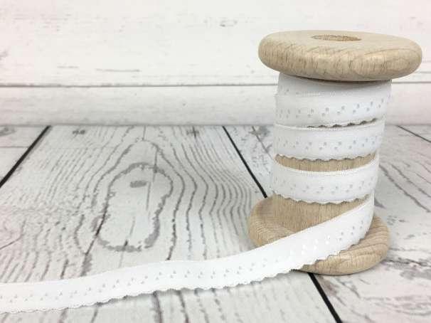 Elastisches Einfassband - weiß