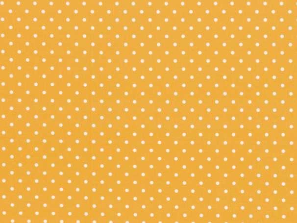 BAUMWOLLE Stoff - Timo - Tupfen, gelb