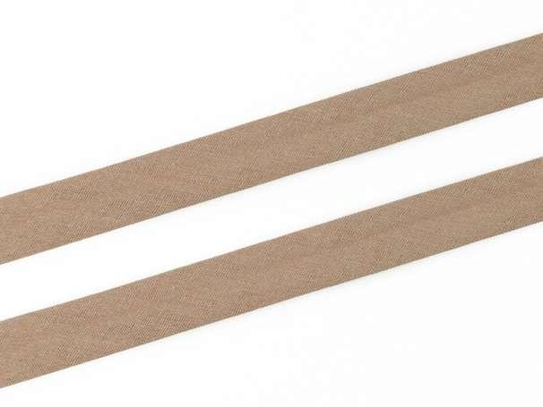 Schrägband Baumwolle - 20 mm - schlamm