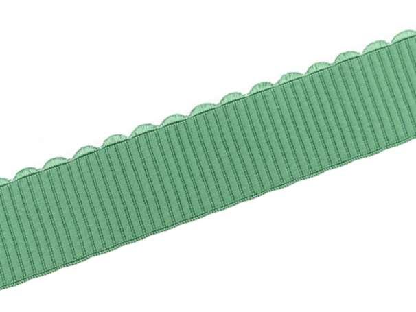 Gummiband - Bogenkante - 4cm - grün