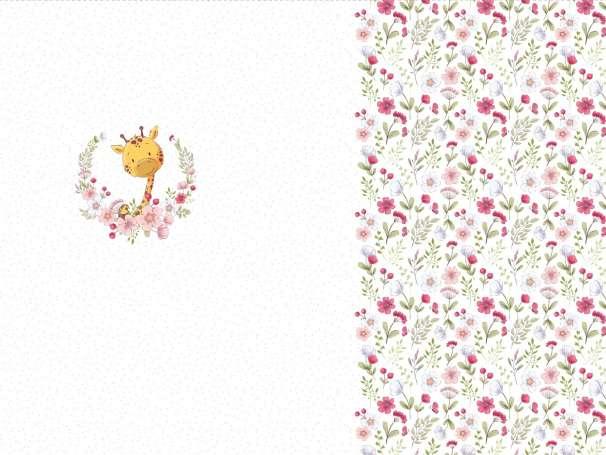 Jersey Stoff - Little Spring, Giraffe - PANEL