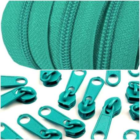 2m Endlos-Reißverschluss + 5 Zipper baltik
