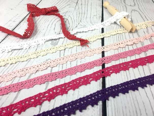 Baumwollspitze - verschiedene Farben