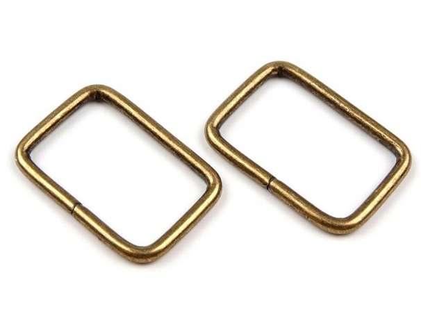 4 Vierkantringe - 20 mm - bronze