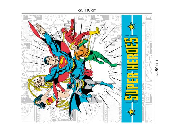 Baumwolle Stoff - PANEL - Super Heroes
