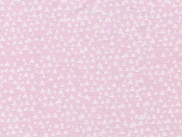 Baumwolle Stoff - Tonal Triangles Pink