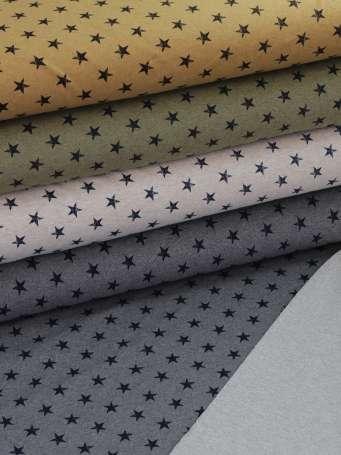 French Terry - Kleine Sterne - verschiedene Farben