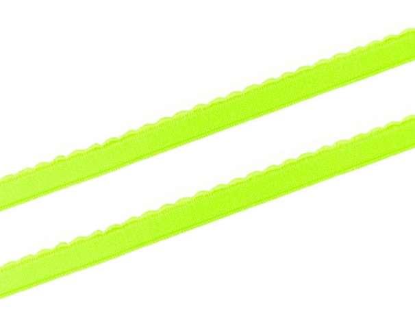 Gummiband - Bogenkante schmal - 12mm - neongrün