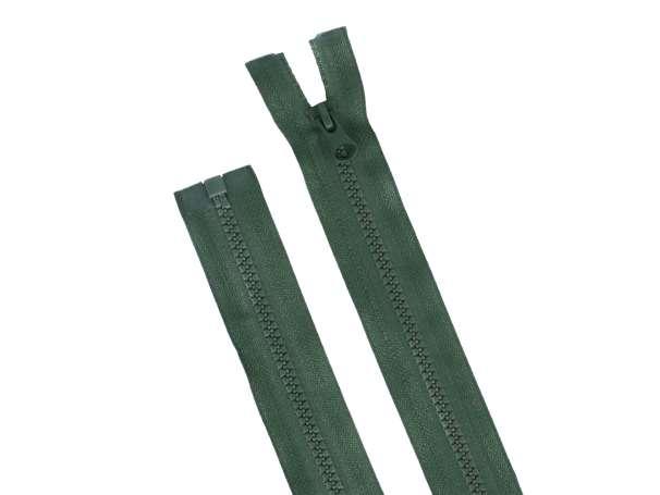 Teilbarer Reißverschluss - 35 cm - dunkelgrün