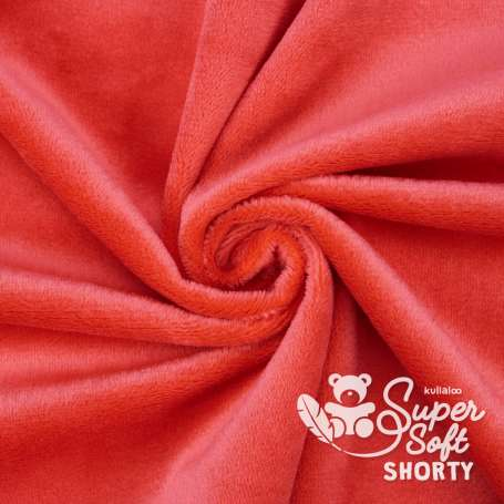 Plüschstoff - SuperSoft SHORTY - kirschrot