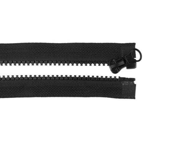 Teilbarer Reißverschluss - 25 cm - schwarz