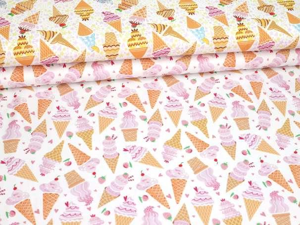 Jersey Stoff - Eistüten, verschiedene Farben