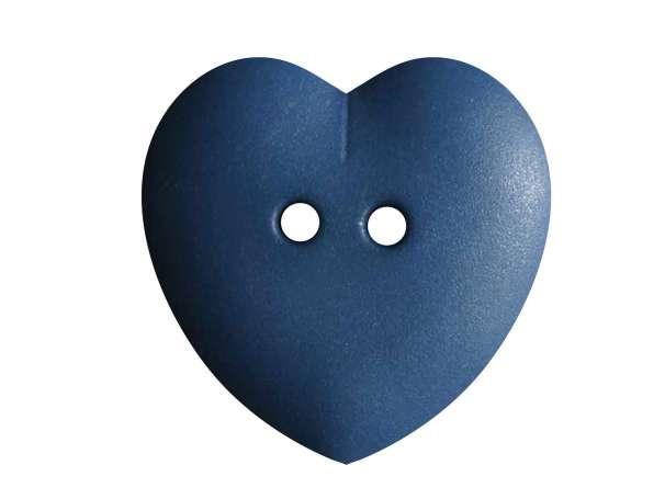 Knopf Herz 23mm - jeansblau