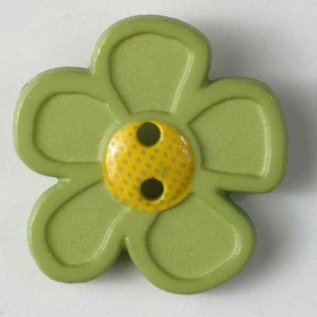 Knopf Blume 20mm - hellgrün