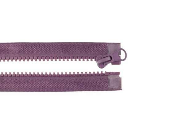 Teilbarer Reißverschluss - 70 cm - aubergine