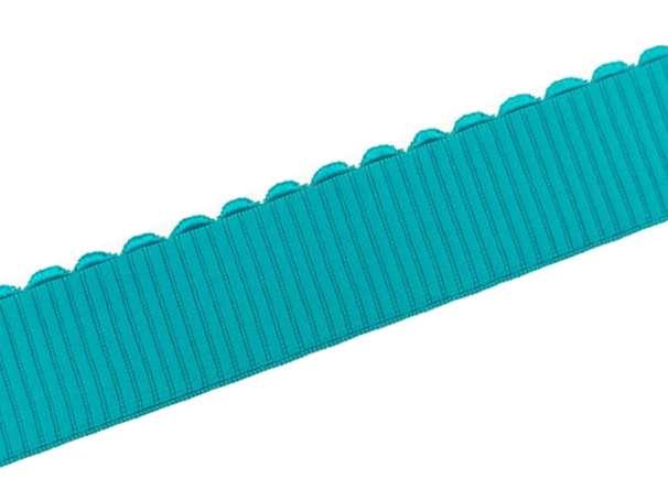 Gummiband - Bogenkante - 4cm - aqua