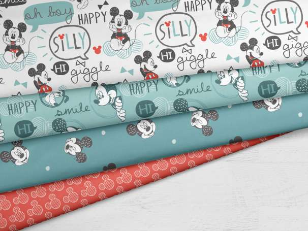 Baumwolle Stoff - Mickey Mouse - Serie