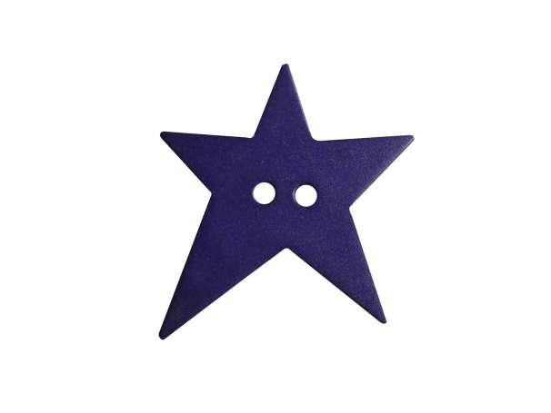 Knopf Stern 15mm - lila