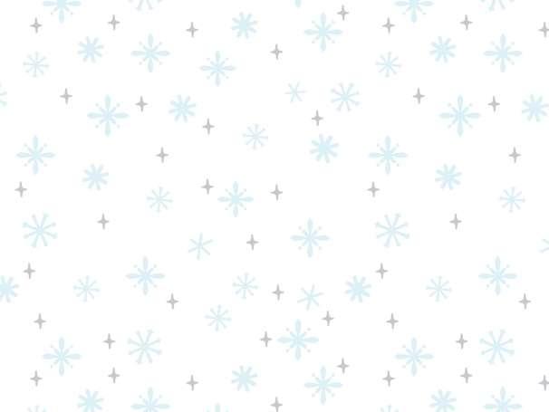 French Terry - Schneeflocken - blau