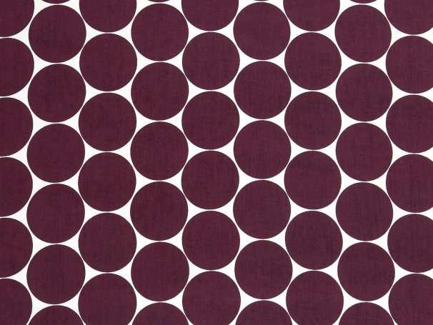 Baumwolle Stoff - MAXI Punkte - aubergine