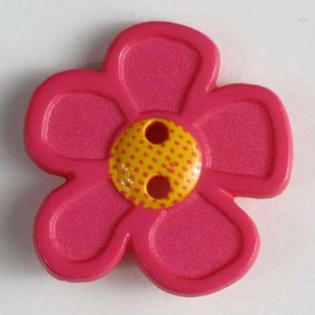 Knopf Blume 20mm - pink