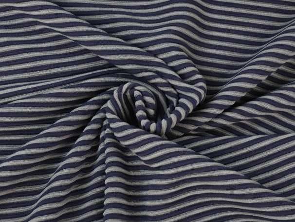 Jacquard Milliblus - Everyway - Streifen - dunkelblau