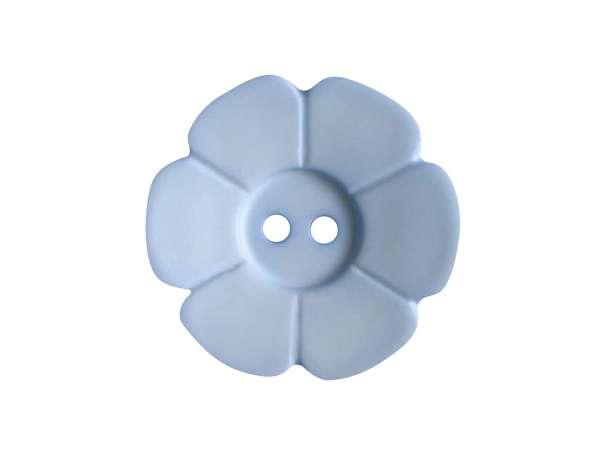 Knopf Blümchen 15mm - hellblau