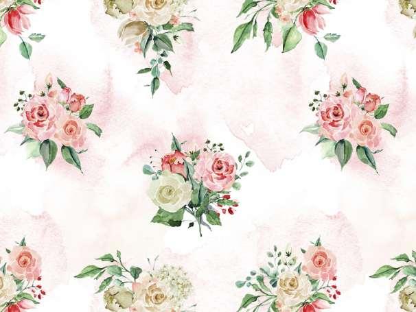 French Terry - Vintage Rose & Splash - Rosa