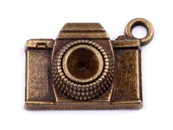 Anhänger - Kamera - altmessing