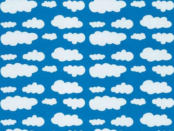 Jersey Stoff - Wolken - türkis